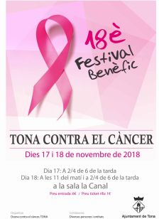18è Festival benèfic Tona contra el càncer