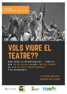Vols viure el teatre?