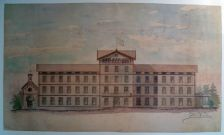Projecte de façana del Balneari Ullastres de 1881 (2015)