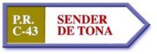 Rètol del Sender de Tona